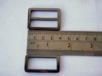 """1.25"""" Gunmetal triglide slider & buckle for adjustable straps"""
