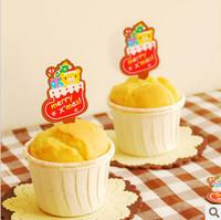 50pcs/lot cute christmas cake mousse cake decoration tool