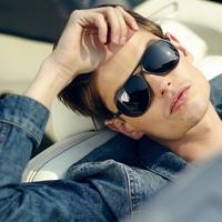 The new influx of people retro sunglasses men sunglasses yurt large aluminum-magnesium alloy sunglasses polarizer 2039