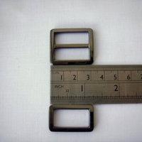"""1"""" Gunmetal triglide slider & buckle for adjustable straps"""