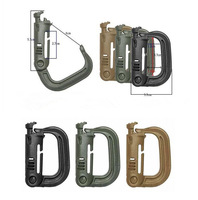 Free delivery outdoor hanging buckle type D high strength lightweight plastic mountaineering carabiner hang buckle  accessories