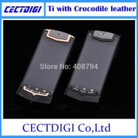 Luxury phone Ti Touch with crocodile leather andriod smart phone Multi language 5MP camera VIP luxury phone Ti constellation