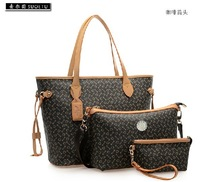 2014 ags 2014 women's handbag Fashion crocodile bag 3 in 1 bag buy one get 3 bags