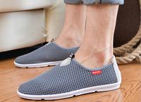 2014  3color Men's flats new  fashion summer  mesh leisure mens shoes men   loafers male flat shoes