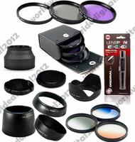 58MM FLD UV CPL Filter Kit +  EW-60C + ET-60 + ES-62 Lens Hood Set For Canon EOS  EF 55-250mm  EF 75-300mm 58 mm
