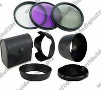 Lesn cap + 58MM FLD UV CPL Filter Kit  Set   + ET-60 + Flower Shape  EW-60C Lens Hood  For Canon EOS EF 28-90mm