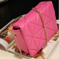2014 spring women should bag plaid chain clutch bag small vintage mini cross-body bag women leather handbag bg-0136