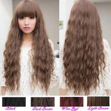 Classic para mujer dama Moda largo rizado Cabello ondulado completa pelucas del partido de Cosplay 5Colors(China (Mainland))