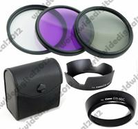 58MM FLD UV CPL Filter Kit  Set   +   EW-60C +  EW-60C II Flower Lens Hood  FOR  Canon EOS  EF 75-300mm EF-S 18-55mm