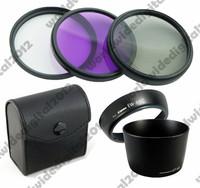 58MM FLD UV CPL Filter  Set   +   EW-60C +  et-60 Lens Hood  FOR  Canon EOS 650d 600d 550d 58 mm  F21