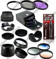 58MM FLD UV CPL Filter Kit  + Graduated Set +  EW-60C + ET-60 + ES-62 Lens Hood Set for CANON  EOS  EF 55-250mm 58 mm