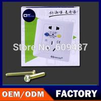 NanDao Brand 220V/10A Wall Socket Leakage Protection Socket  Free Shipping NF-BL5B-10