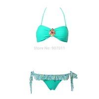 New explosion models women bikini swimsuit sexy Bra Crystal Diamond bikini swimsuit Free Shipping