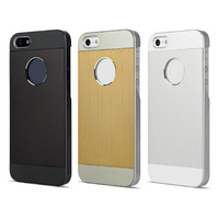 New Arrival Luxury Aluminum Shockproof Brushed Hard Cover Metal Case For iPhone 5 5S