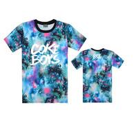 12 styles COKE BOYS tee shirts galaxy star sky  tees hiphop short sleeve t-shirts cheap o neck tees men's t shirt  Freeshipping