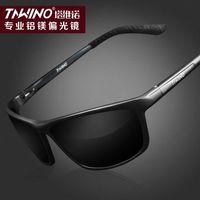 2014 new wave of people retro sunglasses men polarizer aluminum-magnesium Men sunglasses driving glasses