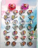 Wholesale 50 Box/1440 pcs Cute Frozen Kid Ring, 2014 New Cartoon Rings free shipping