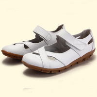 new 2014 spring women flats women genuine leather shoes ballet flats hollow out woman loafers wholesale flats shoes
