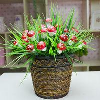 2014 New arrrival artificial mushroom grass home hotel market decorative flowers artificial plant fake flowers 5pcs/lot