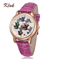 Wholesale women ladies watch 2014 quartz movement analog genuine leather watches luminous hands waterproof watches