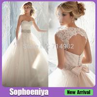 ML1595 Romatic Ball Gown Bridal Detachable Straps Princess Wedding Dress
