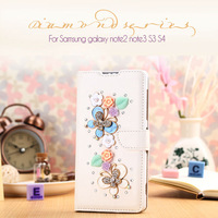 Popular DIY Accessories Diamond Standing Phone Case for Samsung Galaxy S3 i9300/S4 i9500 /S5 i9600 with Card Slot Free Shipping