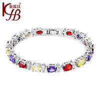 New 2014 Design Handmade Women Vintage Individual Bracelet Gold/Platinum Plated Top Quality Austrian Crystal Bracelets