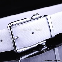 Buckle men's casual leather ladies leather wide belt buckle Korean version of the influx of pure product