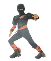 cos Halloween children's clothing Black ninja clothing Children muscle black knight clothes D-1545