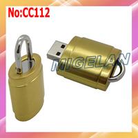 2014 Top Fasion Hot Sale Wholesale Metal Lock USB Flash Memory Drive Sticks PenDrive Pen Drive 64GB Free shipping Stock   #CB050