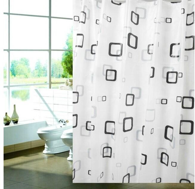 80*180cm PEVA material Thick waterproof mildew shower curtain modern stylish Freeshipping(China (Mainland))
