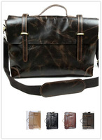 Crazy Horse Leather Men's Shoulder Bag Male Messenger Bag Crossbody Briefcase Business/Casual Computer Bag 37003