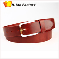 4 color chose top quality belt in italy vegetable cow leather belt & mixed white gold color  buckle  belt Business man belts