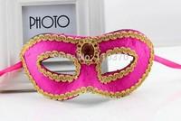 Masquerade Mask Christmas Halloween mask Venice Princess Pink flocking mask