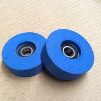 Escalator Step Roller PU Blue Roller 76*22mm 6204Bearing 2RS professional elevator parts suppliers