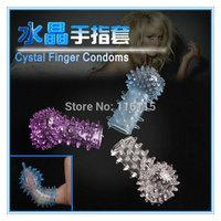 3 pcs/lot, cheap price female masturbation,crystal condoms, vagina stimulation finger G point massager ring,sexy toys for women