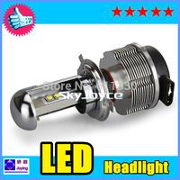 DHL Free Shipping CREE LED Headlight Conversion Car Kit H4 2400LM 12V 24V Aluminum Alloy IP68 6000K