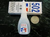 Free Shipping 502 Super Glue 20g EVO BOND Brand Genuine Cyanoacrylate Adhesive Strong Bond Fast High Quality Blue Print 502
