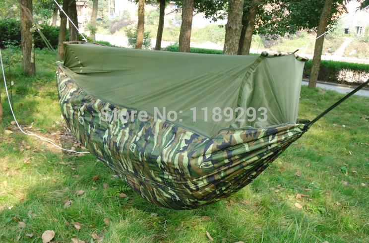 Gazebo Parachute Cloth Single Person Hammock Tourism Camping Hunting Leisure Hammock 250 X 120cm Hammocks Bed Tent Outdoor Swing(China (Mainland))
