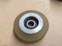 Lift Wheels High speed elevator Roller80/90*25 6302Bearing PU+Aluminum alloy core professional elevator parts suppliers