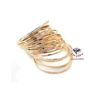 JZ21 Accessories wholesale 21 texture contracted multilayer gold bracelet 2pcs/lot