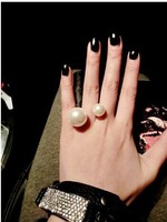 2014 New Arrival Fashion Rings Jewelry Hot Wholesale Texture exaggerated double opening finger ring