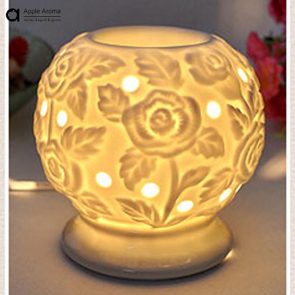 Aroma oil burner home decoration romantic aroma ceramic furnace burner table lamp burner aromatherapy essential oil item no.06(China (Mainland))