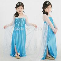 New 2014 Frozen Dress Elsa & Anna Summer Dress For Girl Princess Dresses Brand Girls Dress Children Clothing Kids Wear