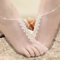 Order $16 automatically free shipping ,Fashion costume jewellry  love charm pearl  anklets for women girl wholeslae