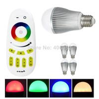 RGBW wifi bulb 9W Mi light E27 AC110-240V,16million color.wifi led bulb with controller   (1pcs led bulb +1x controller)