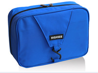 2014 fashion water-proof tearing the nylon fabric travel toiletry solid hasp trunk zipper bag six clours free shipping