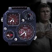 2014 Men's Women's Sports Watches Europe radium fashion double movement  compass barometer Men Watches brand luxury wristwatch