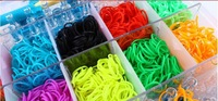 Colorful Loom Set Collection/storage Kit Organizer Includes Over 2200pcs rubber bands with Clips and Loom Tool