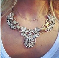 Wholesale New Fashion Big Chunky Statement Crystal Necklace  chorker necklace  Jewelry
